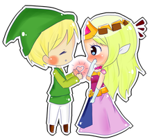 Link and Zelda by TsunaUsui10
