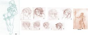 animation homework- character 2 faces by rainvine