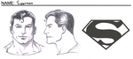 Superman - Head Turnarounds, and Symbol by corvus1970