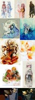 middle-earth doodles by faQy
