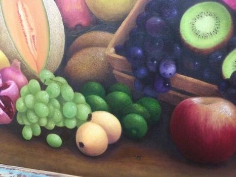 Oil painting detail 2 by GeovannyFons