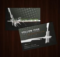 Led 2 Escape Business Cards by yellow-five