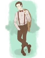 The Eleventh Doctor by wafflesrules