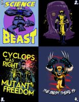 X-Men WeLoveFine Entries to VOTE NOW by artistjerrybennett
