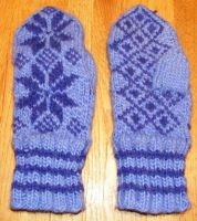 Wool Norwegian Mittens by AmoreVitaTempo