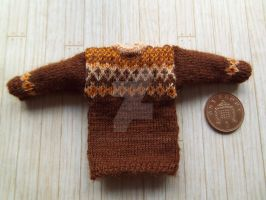 1:12th scale Fair isle jumper 2 by buttercupminiatures