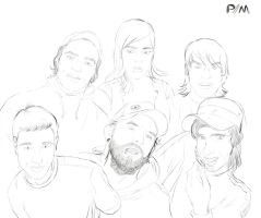 My Friends lineart by Pipe182motaS