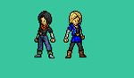 Android 17 and 18 by Souleaterf