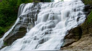 Ithaca Falls Panorama by TimberClipse