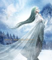 The Winter goddess by Le-Regard-des-Elfes