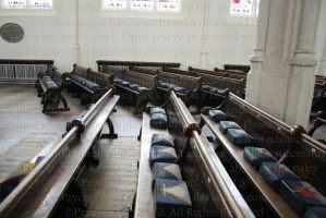 Church benches by PzychoStock