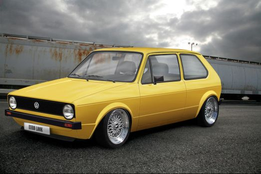 VW Golf I by Tyranoo