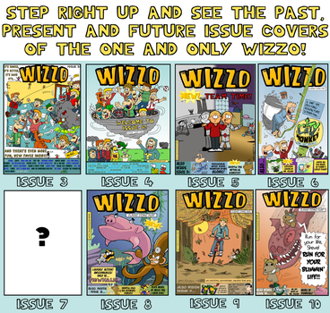 All of the Wizzo Issues so far! by Wizzo-Comic