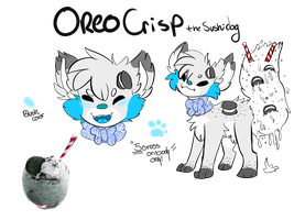 Oreo Crisp the sushi dog by lonely-galaxies