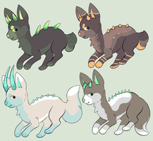 spiky dog thing adoptables by Ryanners