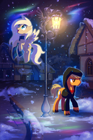 Through time and snowfall (art-trade) by StasySolitude