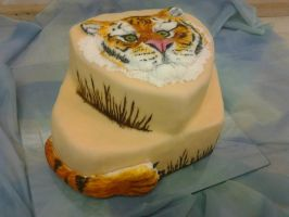 Tiger cake by Nydrli