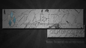 Rarity - warning banner by pims1978