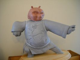 Kung Fu Panda Maquette WIP by shalonpalmer