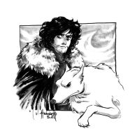 The Bastard and his Direwolf by HanieMohd
