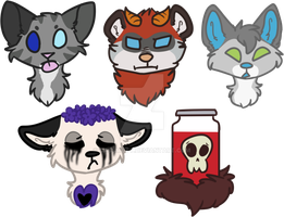 [COMMISSION] Heads x5 by CassMutt