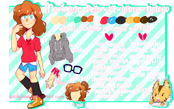 Marianne Deio : reference sheet by wedginaa