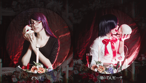 Tokyo Ghoul - Rize and Touka by CamilaCarter