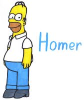 Homer Simpson by YouCanDrawIt