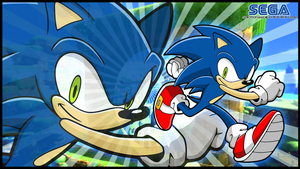 Sonic Wallpaper by Sauron88