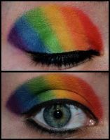 Rainbow Eye by dizzymakeupart