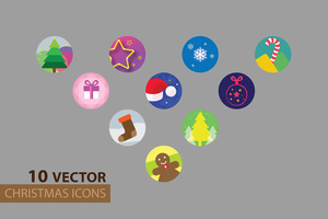 10 VECTOR CHRISTMAS ICONS by psadap
