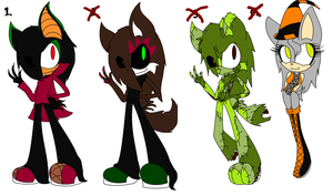 Late Halloween Adoptables by MotionlessGamer
