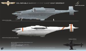 Republic Mako Class Dropship by Galen82