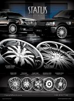 STATUS WHEELS WET AND BLACK by akiragraphics