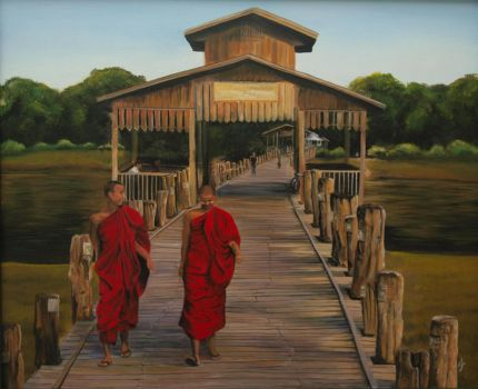 buddhistic monks by Ankaraven