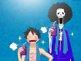 Luffy and Brook | [OP 858] by AndresD13