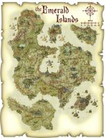 Map of the Emerald Islands - Scroll by TheOriginalGinger