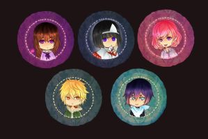 Noragami buttons by thehairypeach