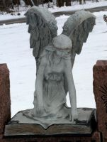 Angel Book Statue-2 by Rubyfire14-Stock