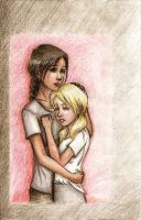 13.Misfortune-Katniss and Prim by commoner-pocky