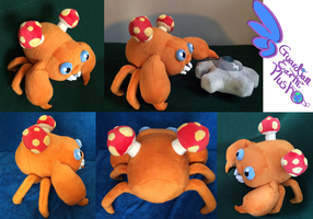 Paras Pokemon Plush! Poseable! by GuardianEarthPlush