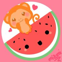 Mr.Monkey Watermelon by mizumitodepapu