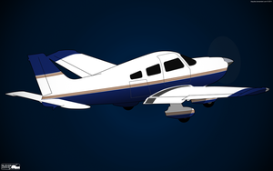 Piper PA-28 Cherokee by BlaydeXi