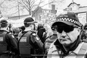 Police Officer - #NoRoomForRacism vs #UPF protest by kenjiwardenclyffe