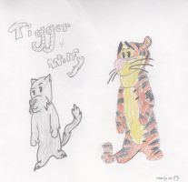 Tigger and Wolfy by gpfml