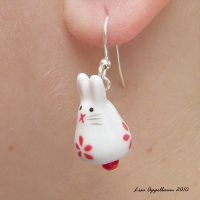 Bunny Earrings No. 5 by Cillana