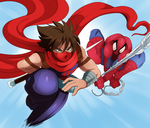 Strider Hiryu and Spiderman by ss2sonic
