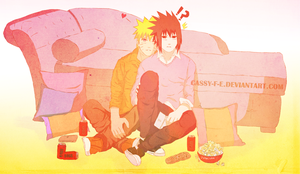 Art Trade-NaruSasu by Cassy-F-E