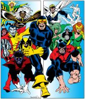 COLORS: 1975 Cockrum X-Men by fredmast