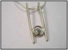 Bar N Circle Pendant by GipsonDiamondJeweler